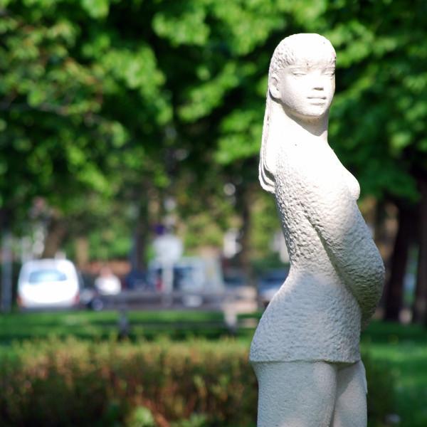 Een van meer dan vierhonderd publieke kunstwerken in Groningen.