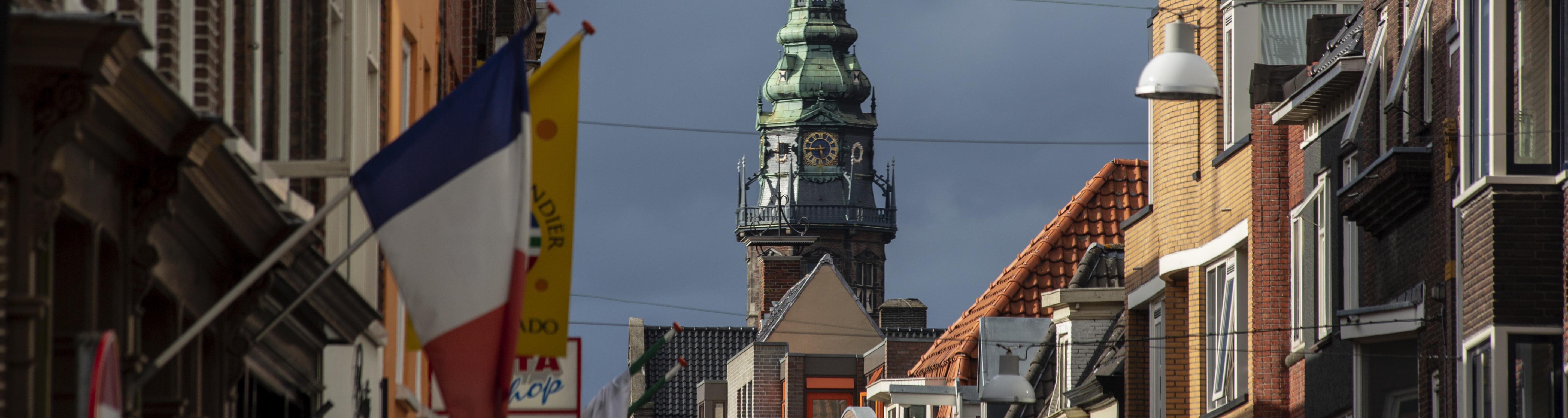 academietoren vanuit Folkingestraat